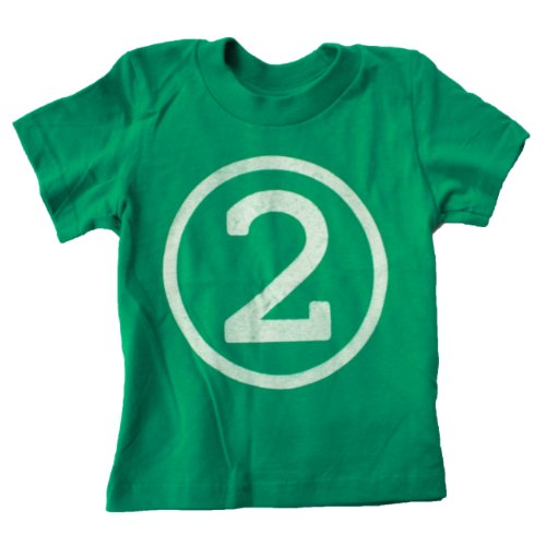 Happy Family Clothing Little Boys 2nd Birthday Short Sleeve Green T Shirt