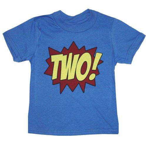 Happy Family Clothing Little Boys Superhero Second Birthday Kids T Shirt